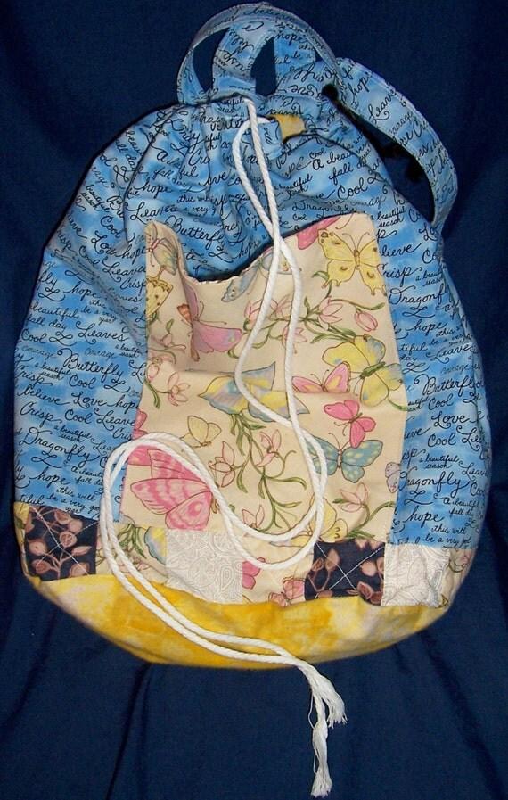 SALE backpack patchwork butterflies dream inspire fabric