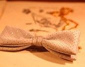 2 Way Vintage Bow Tie: Necklace AND Hairclip