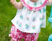 Garden Delight  Baby Girl Top and Bloomer Set