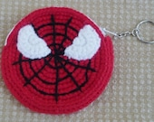 SPIDERMAN Crocheted Coin Purse.