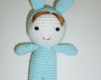 Amigurumi Baby in Bunny Suit.