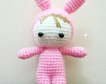 Baby in Pink Bunny Suit