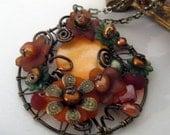 Pumpkin Blossom Secret Garden Necklace