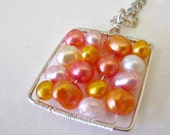 Sherbet Square Pearl Necklace
