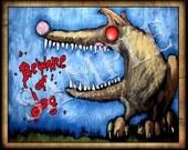 Beware Of Dog PEACHES Tee