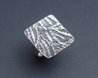 Sterling Silver Cedar Ring
