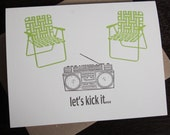 Let's Kick It - 24-pack Letterpress Printed Art Cards