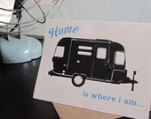 Home is Where I Am - 12-Pack Letterpress Airstream Card Stationery