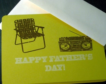Father's Day Lawn Chair - Gocco Printed Card