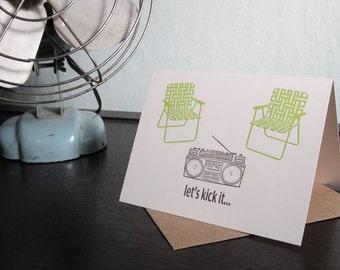Let's Kick It - Letterpress Printed 12-Pack Art Cards