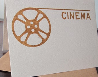 Cinema - Gocco Screen-Printed Film Greeting Card