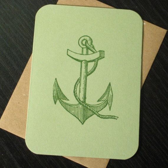 Anchor - Gocco Screen-Printed Card