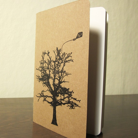Kite and Tree - Unlined Screen-Printed Notebook