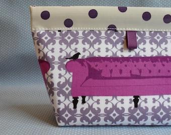 Purple Sofa Snappy Pouch