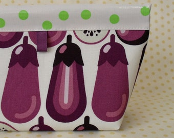 Graphic Eggplant Oilcloth Snappy Pouch