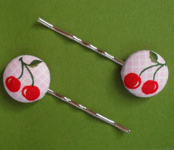 Cherry Pop Bobby Pins for Big and Little Kids