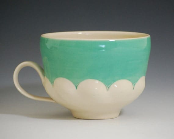 jade scallop cup