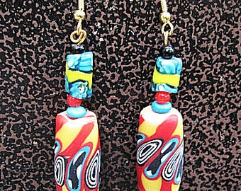 Fimo Meets Trade Beads Earrings