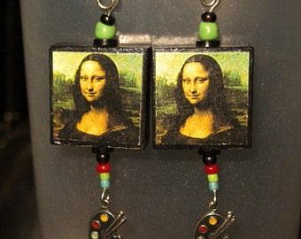 Mona Lisa Earrings w artist palette