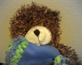 Lime and Blue - Blanket and Bear Gift Set