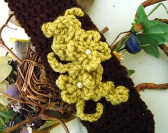 Cuff Bracelet with Flowerette Adornment