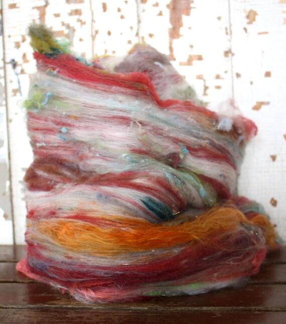 betti confetti - carded batt of mixed fibers