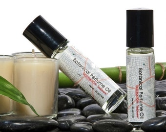 Curacao Netherlands Antilles Botanical Perfume Oil, with extracts of Lavender and Calendula.