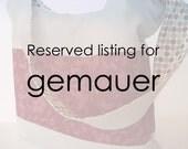 Custom order for gemauer