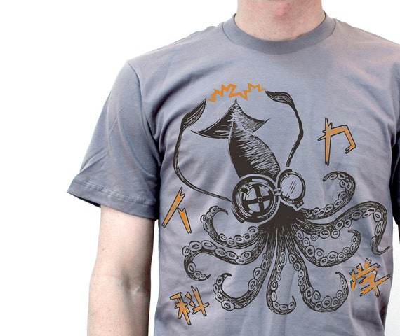 Mad Science Squid T shirts