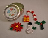 Comet Mini Christmas Quilled Embellishment Set