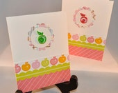 Paper Quilled Apple Set of 2 Handmade Cards