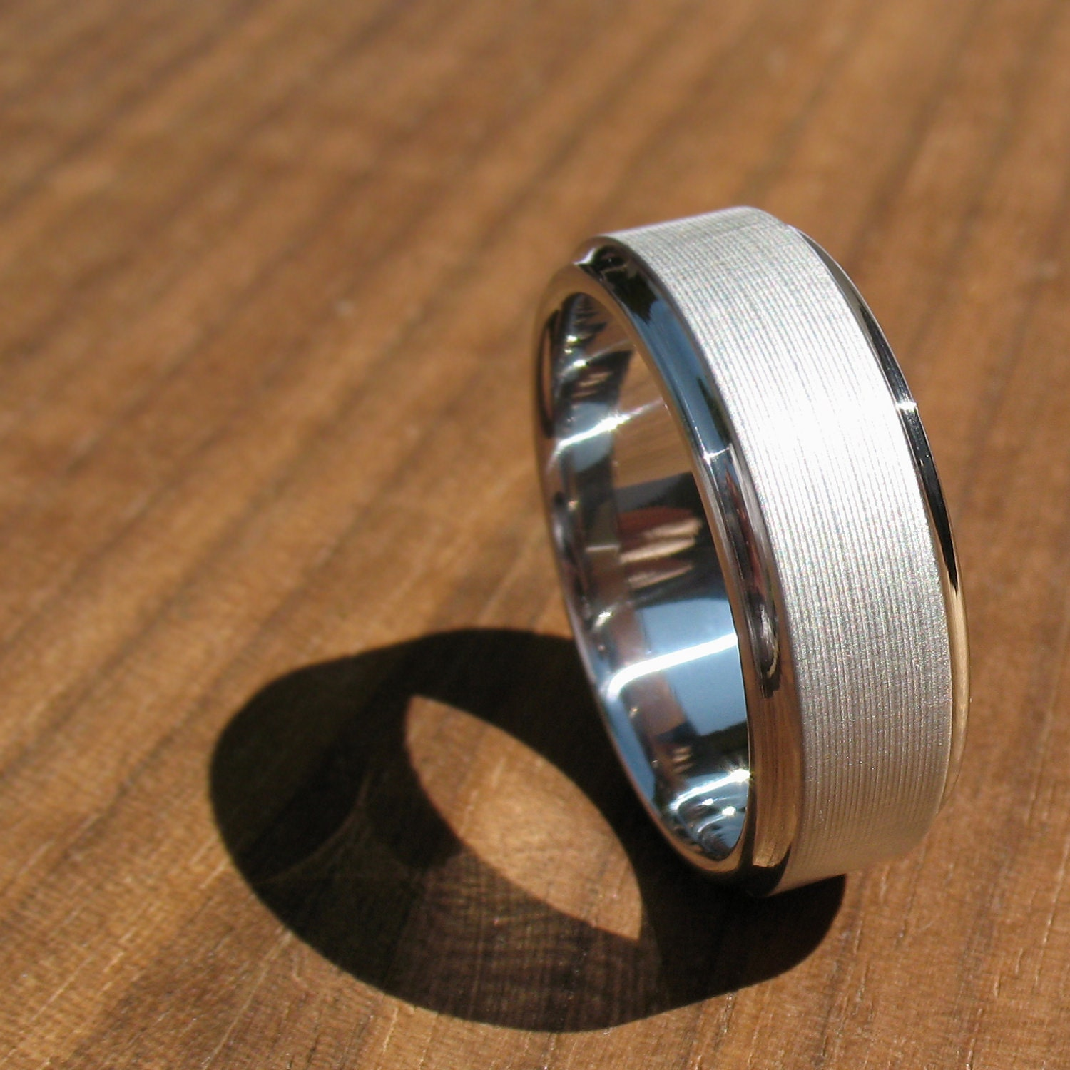 Men's Wedding Band Titanium Brushed Koenig