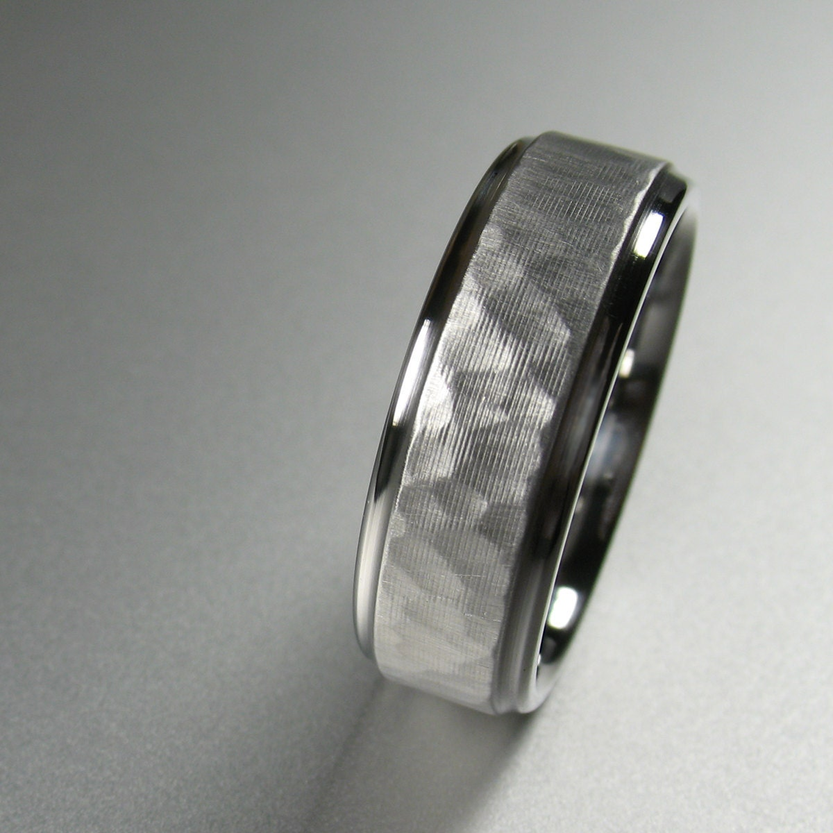men's wedding band stainless steel comfort fit