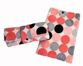 Pink & Gray Disco Dot Diapering Set