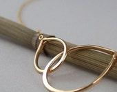 RESERVED - Linked Golden Handforged Teardrops Necklace
