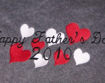 Custom Father's Day Blanket Embroidered for Dad, Grandpa, Uncle, Brother, Friend - Made to Order