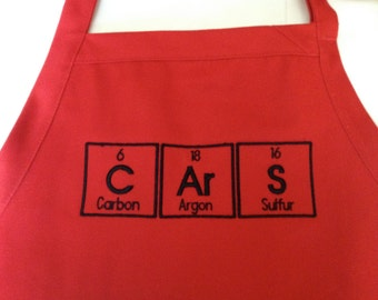 "CArS Periodic Table BBQ Apron Embroidery 34"" - Ready to Ship"