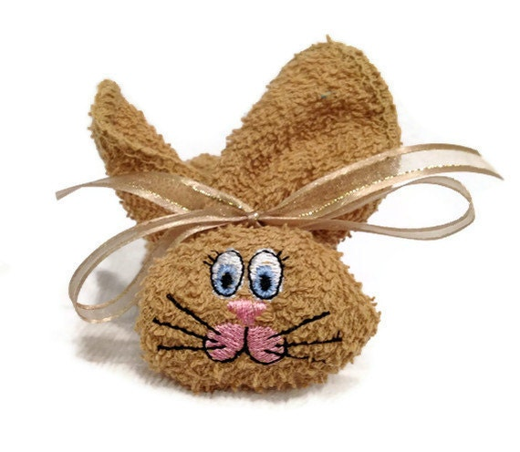 Embroidered Boo-boo Bunny for Baby, Shower, Gift, Easter Basket   TAUPE or Camel Colored Bunny Rabbit