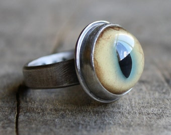 bobcat eyeball ring