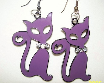 Blingy Kitty Earrings