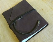 Leather Journal SALE Handmade Diary  Notebook Chocolate Brown Eco Paper