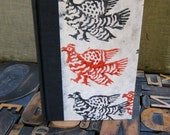 Journal -  Large Lined with Red and Black Roosters