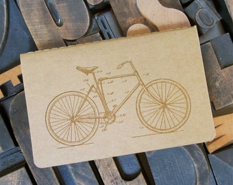 Bicycle Unlined Notebook