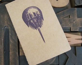 Purple Horseshoe Crab Unlined Notebook