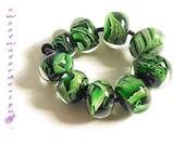 HARMONY  Handmade glass beads set of 9