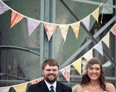 Custom Bunting Flags. 4 at 15 flags each in Your Chosen Colors. Pennant Banner Fabric Flags.