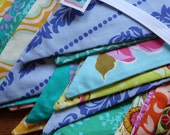 20 Feet of Mixed Flags Bunting Pennant Garland Party Flags, Wedding Decoration, Photo Prop, Parties. Medium Sized Flags, Cotton Fabrics