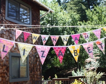 Custom 11 Flag Personalized Bunting