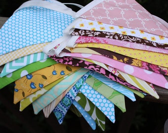 Set of 3 Custom Photo Props, Party Decorations, Bunting Flags. You Choose General Color Theme.