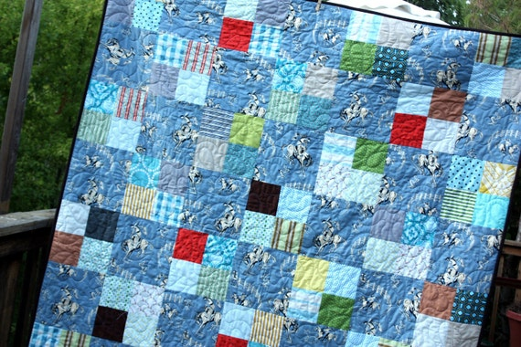 Twin Sized Custom Quilt,  Professionally Quilted.  Cotton Batting.  High Quality Designer Cotton Fabric.